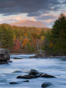 Maine, West Branch of the Penobscot River and Mount Katahdin in Baxter State Park, USA by Alan Copson