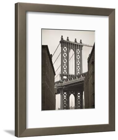 Manhattan Bridge and Empire State Building, New York City, USA