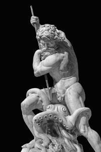 Neptune Impales Octopus - Noir by Alan Copson