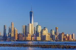 New York Skyline, Manhattan, Lower Manhattan and World Trade Center by Alan Copson