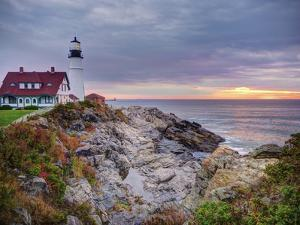Portland Head Lighthouse at Sunrise, Portland, Maine, New England, USA, North America by Alan Copson