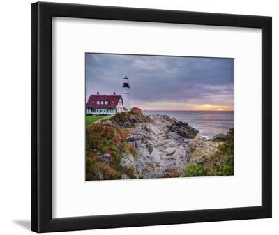 Portland Head Lighthouse at Sunrise, Portland, Maine, New England, USA, North America
