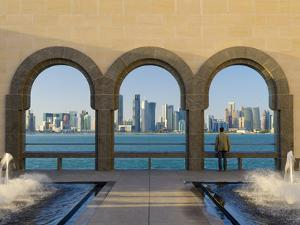 Qatar, Doha, Doha Skyline from Museum of Islamic Art by Alan Copson