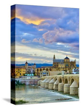 Roman Bridge Over Guadalquivir River and Mezquita, Cordoba, Cordoba Province, Andalucia, Spain