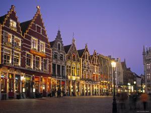 The Markt, Bruges, Belgium by Alan Copson