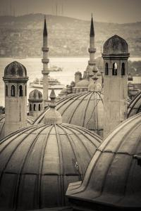 Turkey, Istanbul, Sultanahmet, Domes by Alan Copson