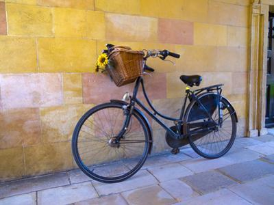 UK, England, Cambridge, Clare College, Bicycle by Alan Copson