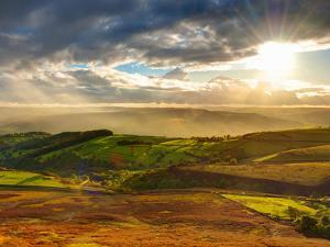 UK, England, Derbyshire, Peak District National Park, Hope Valley from Stanage Edge by Alan Copson