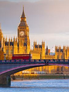 Uk, England, London, Houses of Parliament, Big Ben by Alan Copson