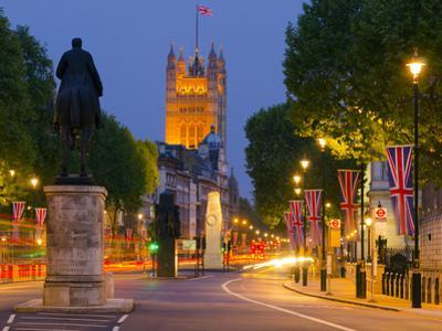 UK, England, London, Whitehall and Houses of Parliament by Alan Copson