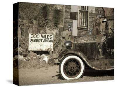 USA, Arizona, Route 66, Hackberry General Store, 300 Miles Desert Ahead Sign
