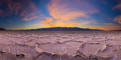 Usa, California, Death Valley National Park, Badwater Basin, Lowest Point in North America by Alan Copson