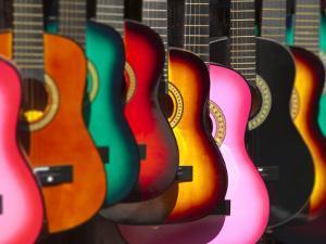 USA, California, Los Angeles, El Pueblo De Los Angeles, Guitars by Alan Copson