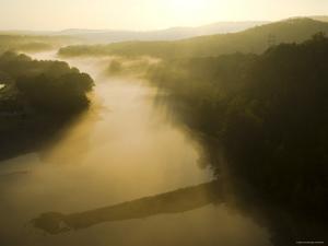USA, Missouri, Ozarks Near Branson, Lake Taneycomo Below Table Rock Dam by Alan Copson