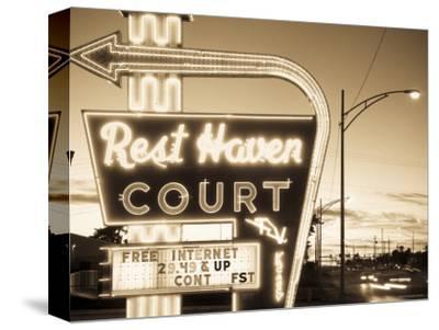 USA, Missouri, Route 66, Springfield, Rest Haven Court Motel