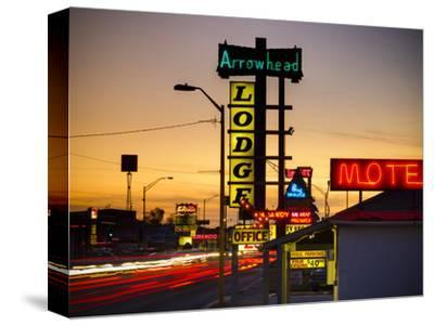 USA, New Mexico, Route 66, Gallup, Motel Signs