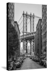 Usa, New York, Brooklyn, Dumbo, Manhattan Bridge by Alan Copson