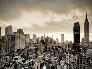 USA, New York, Manhattan, Midtown Skyline Including Empire State Building by Alan Copson