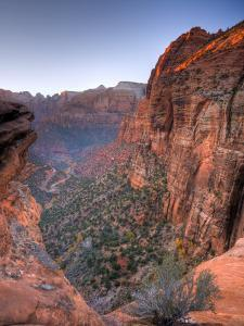 Utah, Zion National Park, from Canyon Overlook, USA by Alan Copson
