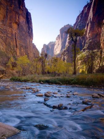 Utah, Zion National Park, the Narrows of North Fork Virgin River, USA