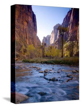 Utah, Zion National Park, the Narrows of North Fork Virgin River, USA