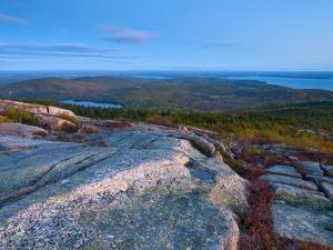 View from Cadillac Mountain, Acadia National Park, Mount Desert Island, Maine, New England, USA by Alan Copson