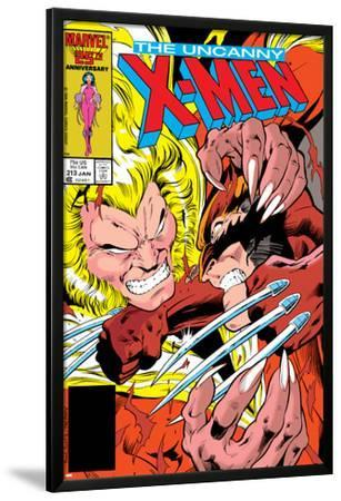 Uncanny X-Men No.213 Cover: Sabretooth and Wolverine