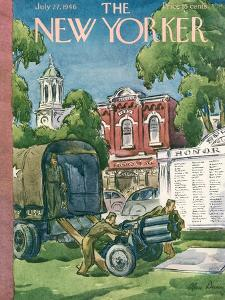 The New Yorker Cover - July 27, 1946 by Alan Dunn