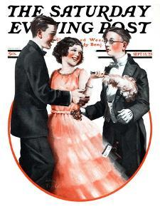 """""""Cutting In,"""" Saturday Evening Post Cover, September 15, 1923 by Alan Foster"""
