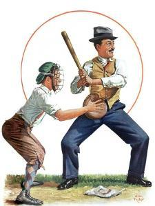 """""""Dad at Bat,""""June 1, 1929 by Alan Foster"""