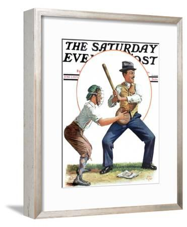 """Dad at Bat,"" Saturday Evening Post Cover, June 1, 1929"