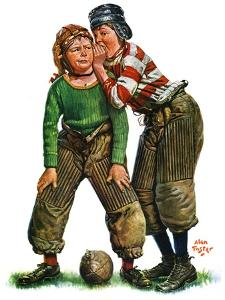 """Football Huddle,""November 12, 1927 by Alan Foster"