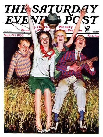 """""""Hayride,"""" Saturday Evening Post Cover, September 30, 1933"""