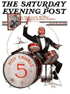 """""""Hot Tamale Five,"""" Saturday Evening Post Cover, August 22, 1925 by Alan Foster"""