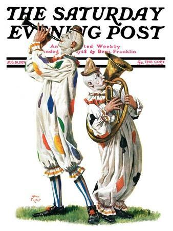 """""""Musical Clowns,"""" Saturday Evening Post Cover, August 10, 1929"""