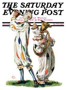 """""""Musical Clowns,"""" Saturday Evening Post Cover, August 10, 1929 by Alan Foster"""