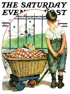 """""""Other Half, Two,"""" Saturday Evening Post Cover, September 26, 1931 by Alan Foster"""