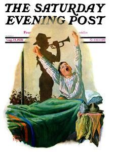 """""""Reveille,"""" Saturday Evening Post Cover, August 15, 1931 by Alan Foster"""