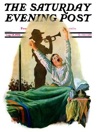 """Reveille,"" Saturday Evening Post Cover, August 15, 1931"
