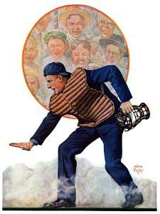 """""""Safe at the Plate,""""September 29, 1928 by Alan Foster"""
