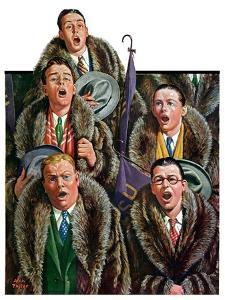 """Singing Men in Raccoon Coats,""November 16, 1929 by Alan Foster"