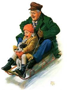 """""""Sledding with Grandpa,""""February 8, 1930 by Alan Foster"""