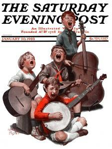 """String Quartet,"" Saturday Evening Post Cover, January 20, 1923 by Alan Foster"