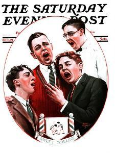 """""""Sweet Adeline,"""" Saturday Evening Post Cover, October 11, 1924 by Alan Foster"""