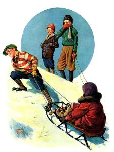 """""""Uphill Sledding,""""March 7, 1931 by Alan Foster"""