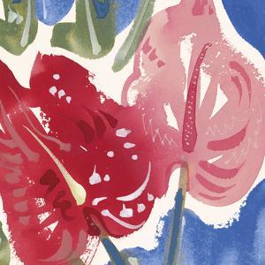 Flamingo Flower I by Alan Halliday