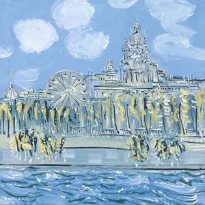 The Sacre Coeur from the Musee d'Orsay by Alan Halliday