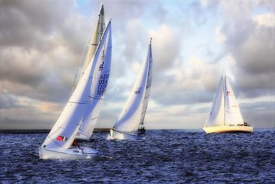 Sailing at Sunset I