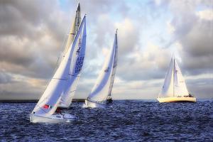 Sailing at Sunset I by Alan Hausenflock