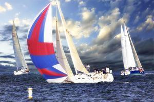 Sailing at Sunset II by Alan Hausenflock